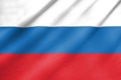 Bandiera del tessuto della Russia Fotografie Stock Libere da Diritti