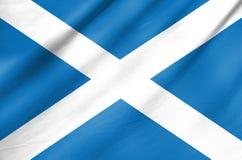Bandiera del tessuto della Scozia Fotografia Stock