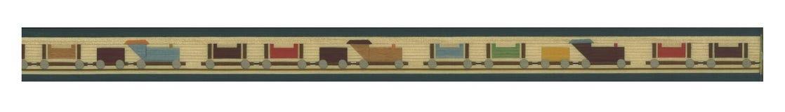 Bandiera del treno illustrazione vettoriale