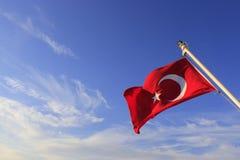 Bandiera del turco Immagini Stock Libere da Diritti