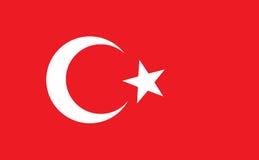 Bandiera del turco illustrazione vettoriale