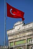 Bandiera del turco e dell'università a Costantinopoli Fotografie Stock