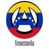Bandiera del Venezuela del mondo sotto forma di segno dell'anarchia royalty illustrazione gratis