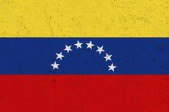 Bandiera del Venezuela sul muro di cemento immagini stock