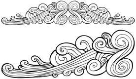 Bandiera del vento della nube royalty illustrazione gratis