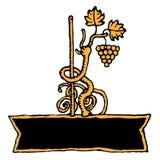 Bandiera del vino rustica Immagini Stock Libere da Diritti