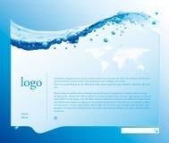 Bandiera dell'acqua Immagini Stock Libere da Diritti