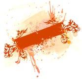 Bandiera dell'acquerello di Grunge illustrazione di stock