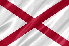 Bandiera dell'Alabama immagine stock