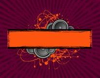 Bandiera dell'altoparlante dello scarabocchio Fotografie Stock