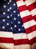 Bandiera dell'America con i colori d'annata Immagini Stock Libere da Diritti