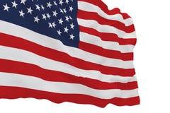Bandiera dell'america su bianco Immagini Stock