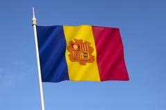 Bandiera dell'Andorra Fotografia Stock