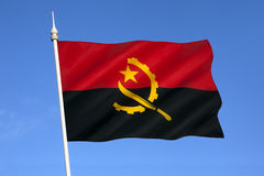 Bandiera dell'Angola - l'Africa Immagine Stock Libera da Diritti