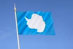 Bandiera dell'Antartide Immagine Stock