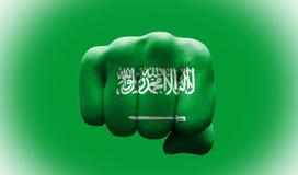 Bandiera dell'Arabia Saudita Fotografie Stock