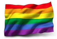 Bandiera dell'arcobaleno Fotografie Stock Libere da Diritti