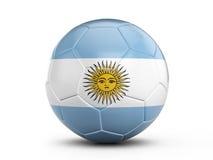 Bandiera dell'Argentina del pallone da calcio illustrazione vettoriale