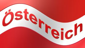 Bandiera dell'Austria, illustrazione Immagini Stock