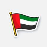 Bandiera dell'autoadesivo degli Emirati Arabi Uniti Immagine Stock
