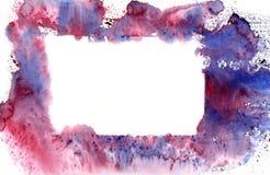 Bandiera dell'azzurro dell'acquerello Fotografia Stock Libera da Diritti
