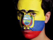 Bandiera dell'Ecuador immagini stock