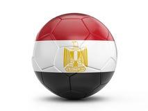 Bandiera dell'Egitto del pallone da calcio illustrazione di stock