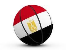 Bandiera dell'Egitto della palla di pallacanestro Fotografia Stock Libera da Diritti
