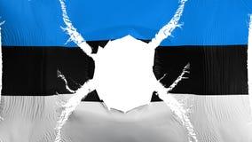 Bandiera dell'Estonia con un foro royalty illustrazione gratis