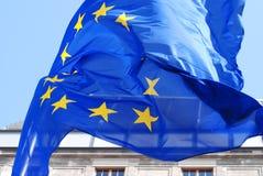 Bandiera dell'Eu di Europa Fotografia Stock