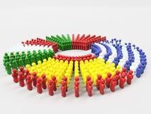 bandiera dell'illustrazione 3D parte anteriore dei paesi dei MAIALI, Spagna Fotografia Stock Libera da Diritti