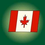 Bandiera dell'illustrazione di vettore di Pop art del Canada Fotografie Stock