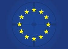 Bandiera dell'illustrazione di vista di Europa Illustrazione Vettoriale