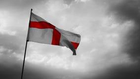 Bandiera dell'Inghilterra al rallentatore stock footage