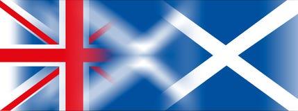 Bandiera dell'Inghilterra e bandiera della Scozia Fotografia Stock Libera da Diritti
