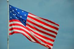Bandiera dell'insegna a stelle e strisce Immagini Stock Libere da Diritti