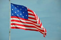 Bandiera dell'insegna a stelle e strisce Fotografia Stock Libera da Diritti