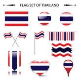 Bandiera dell'insieme di vettore della TAILANDIA Immagini Stock Libere da Diritti