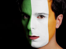 Bandiera dell'Irlanda Fotografie Stock
