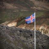 Bandiera dell'Islanda Fotografia Stock Libera da Diritti
