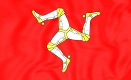 Bandiera dell'Isola di Man Fotografia Stock