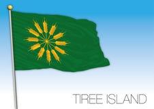 Bandiera dell'isola di Tiree, Regno Unito, Scozia illustrazione di stock