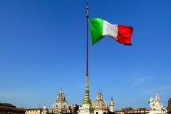Bandiera dell'Italia Fotografie Stock