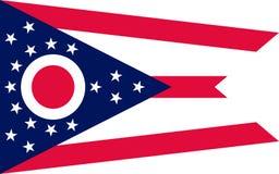 Bandiera dell'Ohio, U.S.A. immagini stock