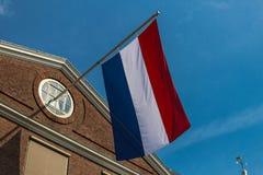 Bandiera dell'Olanda, Olanda, Amsterdam fotografia stock libera da diritti