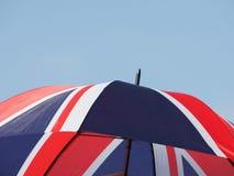 bandiera dell'ombrello del Regno Unito (Regno Unito) aka Union Jack fotografie stock libere da diritti