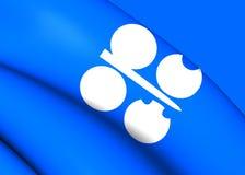 Bandiera dell'OPEC Fotografia Stock Libera da Diritti