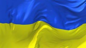 Bandiera dell'Ucraina che ondeggia nel fondo senza cuciture continuo del ciclo del vento illustrazione vettoriale