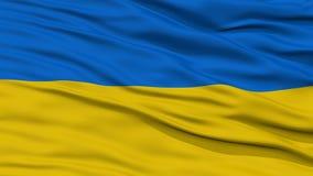 Bandiera dell'Ucraina del primo piano Fotografia Stock Libera da Diritti