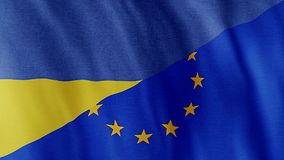 Bandiera dell'Ucraina Europa illustrazione vettoriale